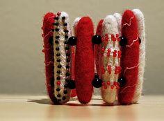 Zoe yule felted bracelet