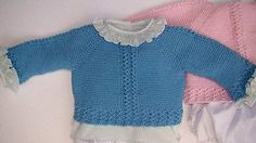 Hoy enseñamos en el video tutorial e instrucciones en nuestra página a hacer este precioso Jersey de bebé, en varias tallas dependiendo del hilo o de los