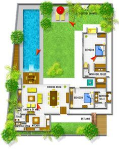 Balinese House Designs And Floor Plans   Google Search
