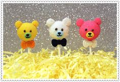 Teddy Bear Cake Pops by myangelpops on Etsy, $39.00