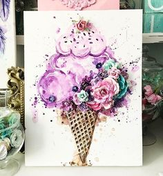 Mixed Media Art For Kids Thoughts Ideas Kids Canvas, Canvas Art, Cuadros Diy, Arte Fashion, Prima Watercolor, Diy Painting, Painting Walls, Painting Flowers, Fabric Painting