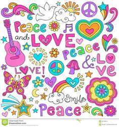 la-paz-el-amor-y-el-cuaderno-de-la-msica-doodles-el-conjunto-del-vector-28768312.jpg (1300×1390)