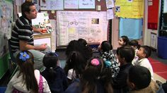 This video captures a dual language classroom at work.  Children are highly engaged. This print-rich classroom shows the authentic learning that is taking place throughout the teacher's lessons.