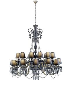 Available through Luxury Living showrooms, this 24-arm glass and crystal chandelier is part of the Fendi Luce collection. #Luxe #Fall 2010