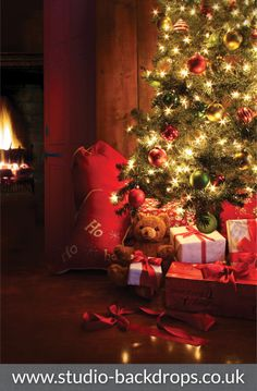 Christmas Tree Photography Backdrop