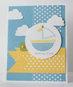 Stampin' Up! Baby Card  by Stamp with Heather: Moving Forward