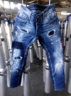 Patched Jeans, Denim Jeans Men, Ripped Jeans, Blue Jeans, G Star Raw Jeans, Raw Denim, Washed Denim, Estilo Jeans, Vintage Jeans