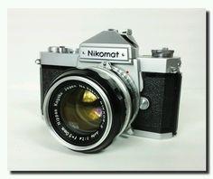 NIKON Nikomat FT 35mm SLR Film Camera plus 3 lenses plus extras! Great Student camera. 1960s
