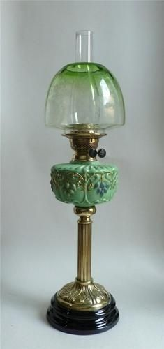 Superb Antique Oil Lamp Acid Etched Beehive Shade RD 1910 28 Tall | eBay