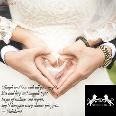 """Het is weer tijd voor inspiratie!  """"Laugh and love with all your might, kiss and hug and snuggle tight, let go of sadness and regret, say I love you every chance you get..."""" ― Onbekend  Kent u een mooie, liefdevolle quote die u graag op vergelijkbare manier ziet gepresenteerd? Laat het ons weten!  #tagyourlover#lovequote#love#marriage#wedding#weddingrings #gold#diamonds#steinberg#123gold#steinbergnl#123goldnl"""