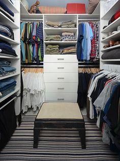 Mans walk in closet. Wow.