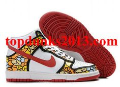 newest d3524 dcf2e Outstanding 54AV Custom Pack Orange Blue Yellow High Top Nike Dunk Men  Women High Shoes,