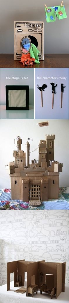 15 Toys You can make for kids with Cardboard