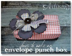 Envelope punch board box. envelope board, envelopes, boxes, craft idea, envelop punch, punch board, punch box, scrapbook, crafting with punches