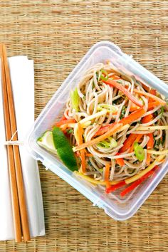 This Asian soba-noodle salad is a wonderfully light lunch recipe you'll love.