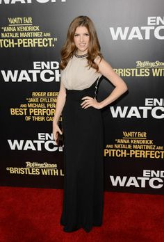 Anna Kendrick wears ELIE SAAB Ready-to-Wear Fall/Winter 2012-2013 to the 'End of Watch' Premiere in Los Angeles.