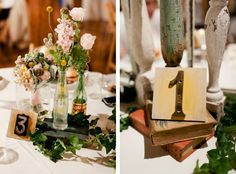 Table center pieces & numbers