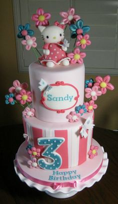 Kitty birthday cake - by sking @ CakesDecor.com - cake decorating website