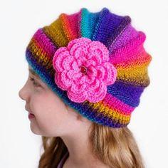 Knitting flower cap  #flower #cap #hat #poppy #beanie #spring #girly
