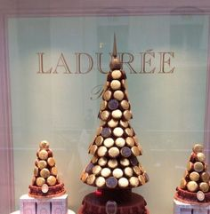 Ladurée Creates Macaron Trees For Christmas,Ladurée at Christmas, Paris