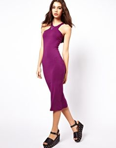 ASOS midi bodycon dress with racer neck - always love their dress selection!!