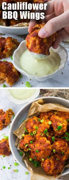 vegan cauliflower hot wings are the perfect comfort food., These vegan cauliflower hot wings are the perfect comfort food.,These vegan cauliflower hot wings are the perfect comfort food. Vegan Recipes Beginner, Tasty Vegetarian Recipes, Vegetarian Wings, Delicious Recipes, Best Vegan Meals, Bbq Vegetarian, Vegan Bbq Recipes, Paleo, Vegan Recipes