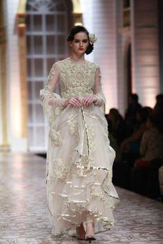 Fashion designer Falguni & Shane peacock Collection @ India Bridal Fashion week 2013.