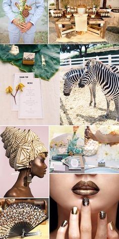 African inspired wedding.