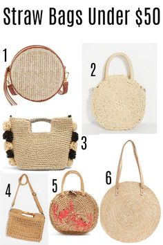 Straw bags are such a great spring and summer staple and a big trend again this year. Big Purses, Cheap Purses, Unique Purses, Gucci Purses, Purses And Handbags, Trendy Purses, Trendy Handbags, Fashion Handbags, Popular Purses