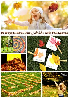 10 Ways to Have Fun Outside with Fall Leaves