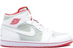 "AIR JORDAN 1 MID ""HARE"" COLOR: WHITE/TRUE RED-LIGHT SILVER-BLACK STYLE CODE: 719551-123 http://www.airjordans-retro.com/air-jordan-1-i-retro-mid-wb-whitetrue-redlight-silverblack-719551123-p-3402.html"