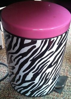 Pink and zebra trash can - family dollar