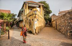 The streets of Goree island Senegal