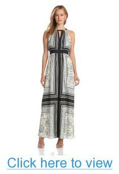 Vince Camuto Women's Empire Waisted Maxi Dress