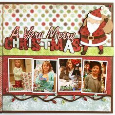 Cute Christmas scrapbook page