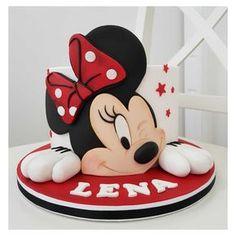 Cupcakes Mickey, Mickey And Minnie Cake, Bolo Minnie, Minnie Mouse Birthday Cakes, Mickey Mouse Clubhouse Party, Minnie Mouse Theme, Mickey Cakes, Baby Birthday Cakes, Disney Parties