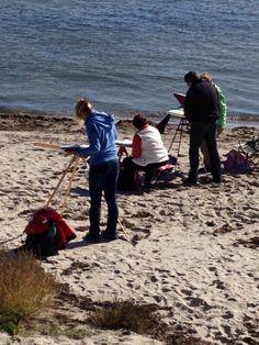 Malreise auf Rügens Halbinsel Mönchgut | Malen am Strand von Thiessow (c) Birgitt Bartelt (1) #wirsindinsel! #rügen