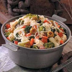 italian vegetable salad - minus the cheese - amazing. really.