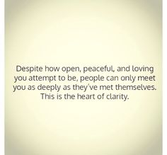 the heart of clarity