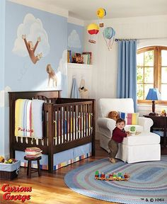curious george bedroom ... PMall's Curious George growth chart would look adorable in here!