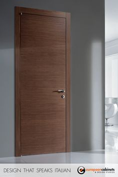 Simple, elegant, modern interior door for home or office.