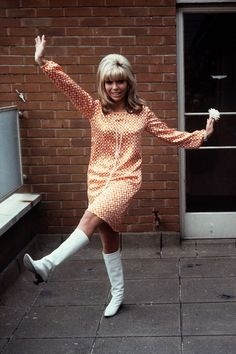 If ever a song – and singer – could symbolise the style of the era, it was Nancy Sinatra's hit single These Boots Were Made For Walking. With her tousled blonde hair, shortest of mini dresses and ability to pull off a pair of knee-high boots with aplom – the song, and Nancy's look was an emblem for the decade.