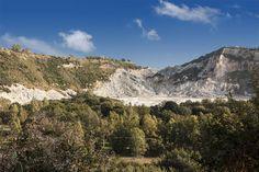 Il Vulcano Solfatara durante una splendida giornata di sole a fine Novembre