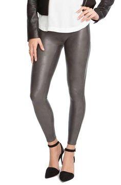Black leather leggings size 6