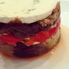 roasted red pepper and eggplant dish