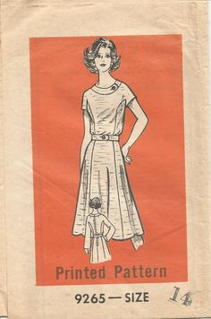 Vintage Mail Order Tissue Dress & Jacket Pattern 9265 Size 14 Bust 36 circa 1970's by EvaStAlbans on Etsy