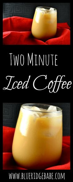 Recipe for homemade iced coffee, no brewing required. This can save you so much money spent on coffee out!