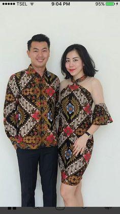 Model Dress Batik, Batik Dress, Batik Couple, Model Kebaya, Batik Kebaya, Dress Pesta, Blouse Batik, Batik Fashion, Ankara Dress