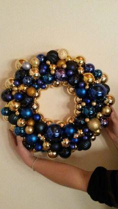 Christmas balls, crown, kerstballenkrans, krans, kerst diy
