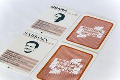 World Leaders Typographic Trump Cards by Simon Ellis